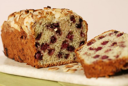 Serviceberry and poppy seed cake