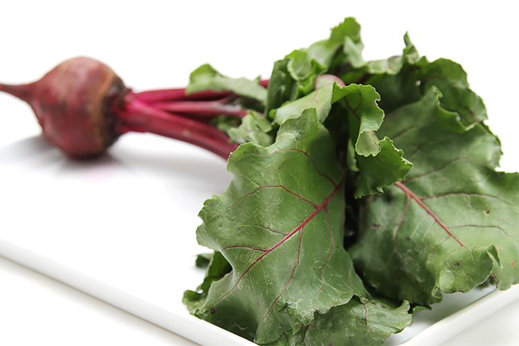 Red beet-beet greens-beet leaves
