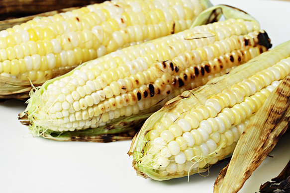 Food and Style - In-Their-Husks Grilled Corn on the Cob