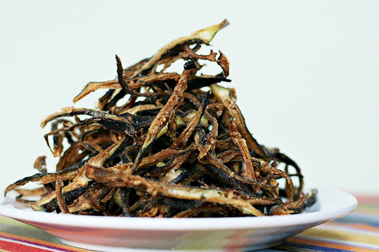 Burgundy okra shoestring fries | Food & Style