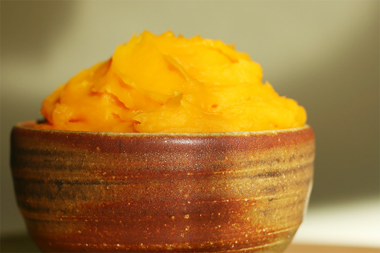 Fresh winter squash purée