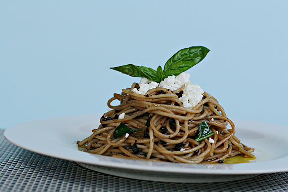 Maccheroni alla Chitarra with Herbes de Provence and cured olives