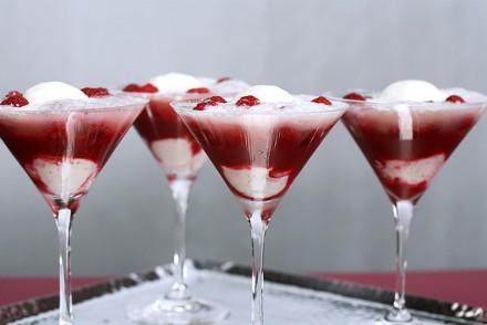 Raspberry-Champagne fizz