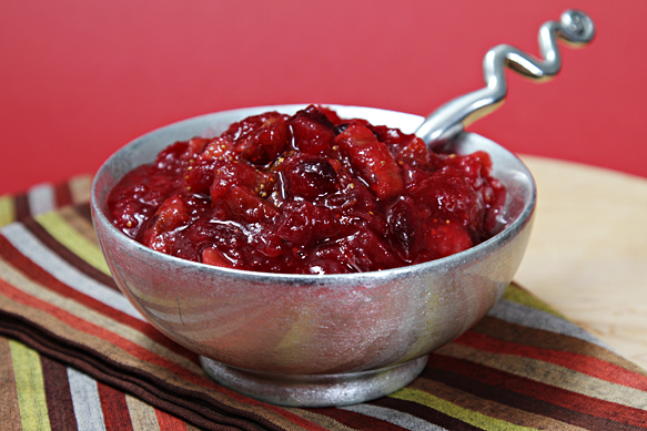 Cranberry-fig chutney
