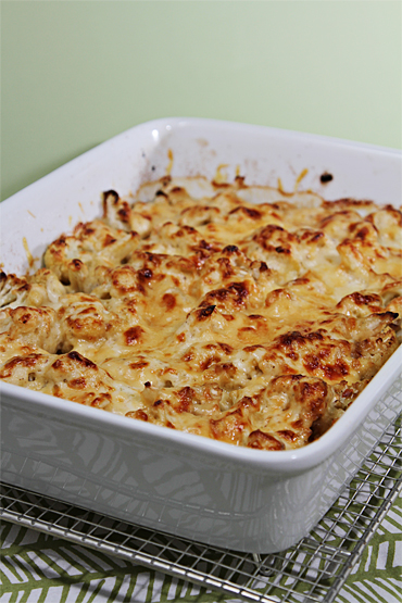Food and Style - Cauliflower gratin with nutmeg
