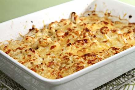 Cauliflower gratin with nutmeg