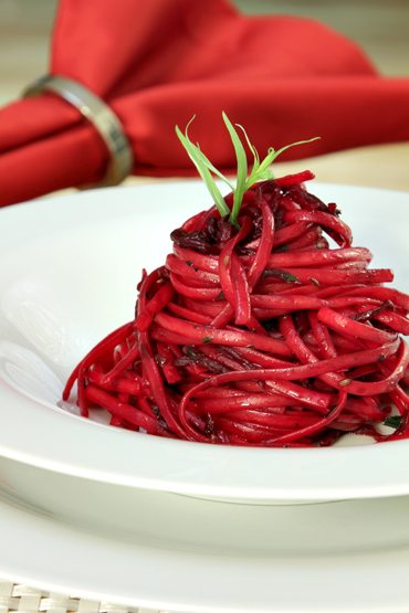 Linguine with Roasted Beets