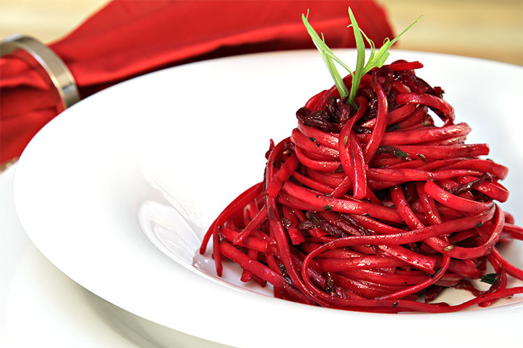 Creamy Roasted Beet Pasta Recipe — Dishmaps