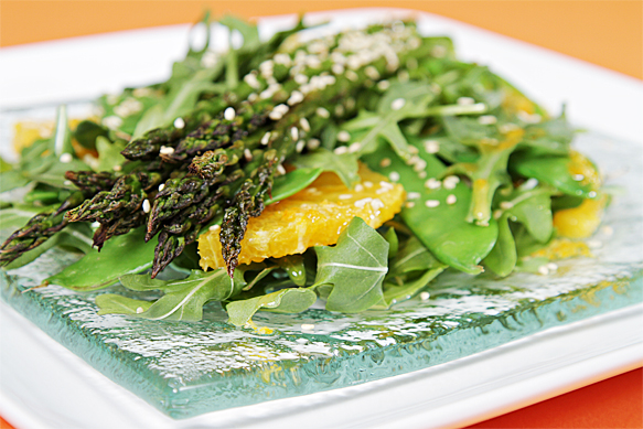 Food and Style - Roasted asparagus salad with Valencia oranges and ginger-citrus vinaigrette