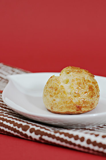 Gougère with aged gruyère and cayenne