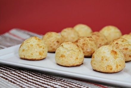 Gougères with aged gruyère and cayenne