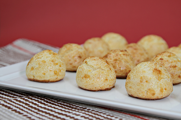 Gougeres on a tray