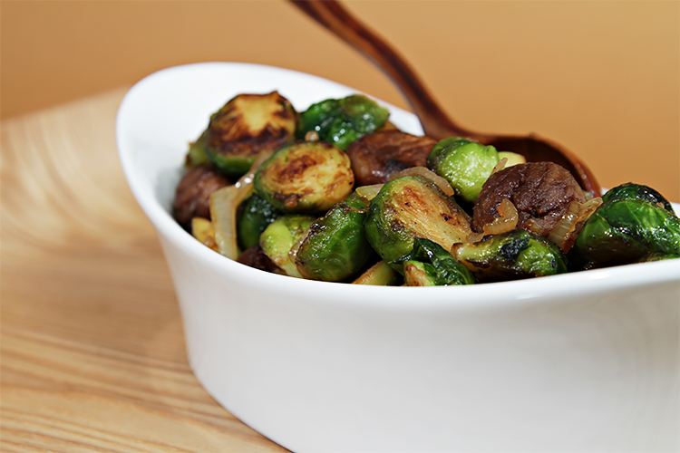 Maple-glazed roasted Brussels sprouts with chestnuts | Food & Style
