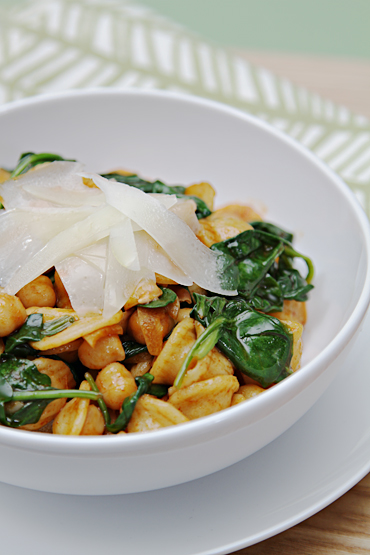 Orecchiette with Wilted Spinach, Chickpeas and Pimenton