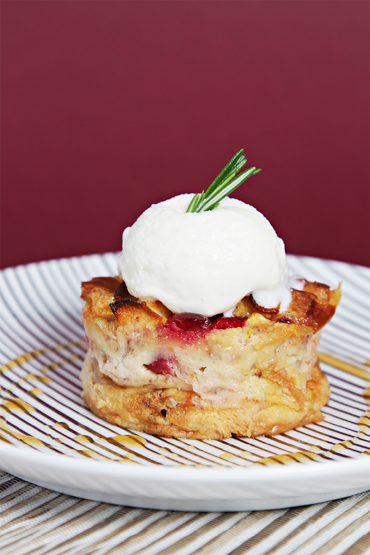 Apple-Cranberry Bread Pudding
