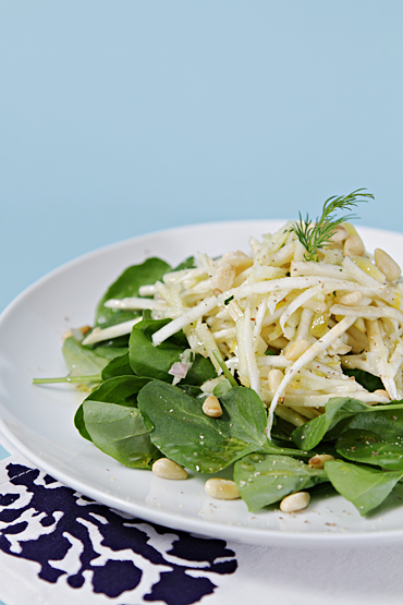 Celeriac and Apple Salad with Watercress