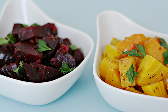 Baked golden and red beets with anise vinaigrette | Food & Style