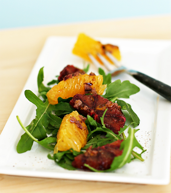 Blood Orange and Valencia Orange Salad with Olive Vinaigrette