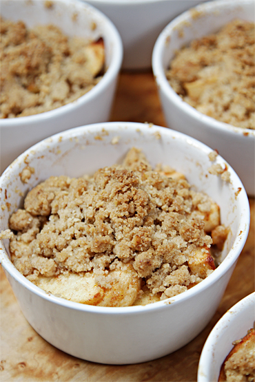 Apple-walnut crisp with Tequila