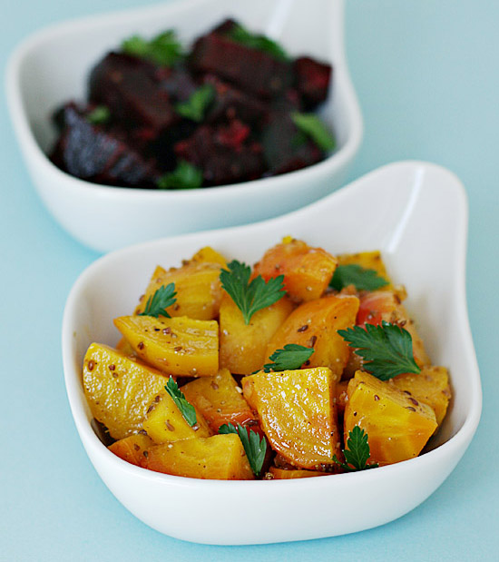 Baked golden and red beets with anise vinaigrette | Food ...