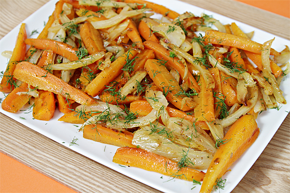 Food and Style - Carrots and Fennel Braised with Orange Zest and Honey