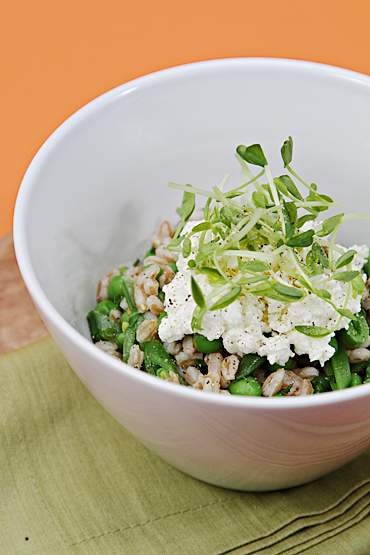 Food and Style - Farro with Sweet Peas and Ricotta