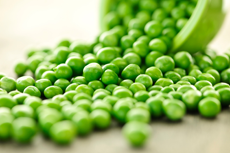 fresh peas with basil and mint - Garden Peas