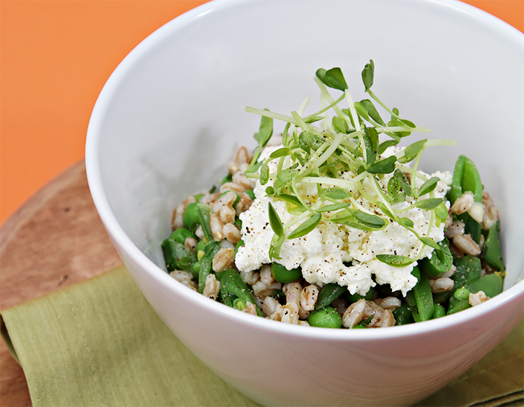 Farro with Sweet Peas and Ricotta