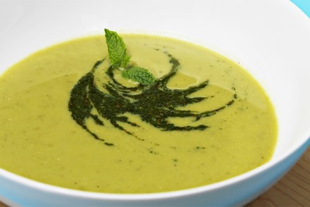 sweet pea soup with cumin mint coulis an easy pea soup bursting with ...