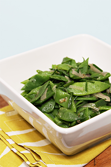 Romano Beans with Butter, Shallots and Chives