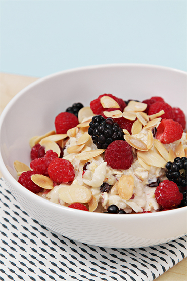 Fresh Muesli with Apples and Seasonal Berries