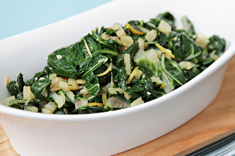 Sautéed Swiss Chard with Lemon Zest