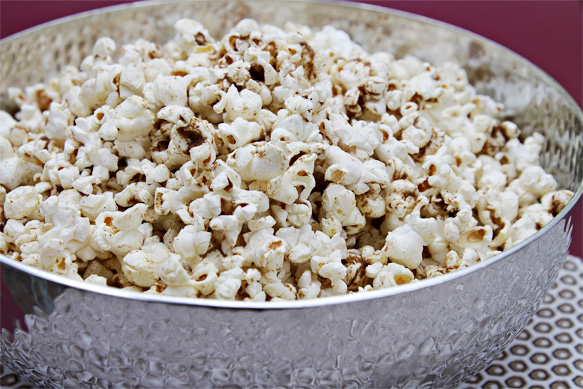 Popcorn with Garam Masala Butter