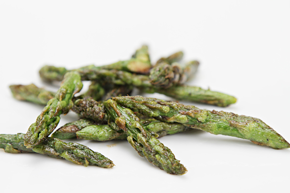 Pan-seared asparagus tips