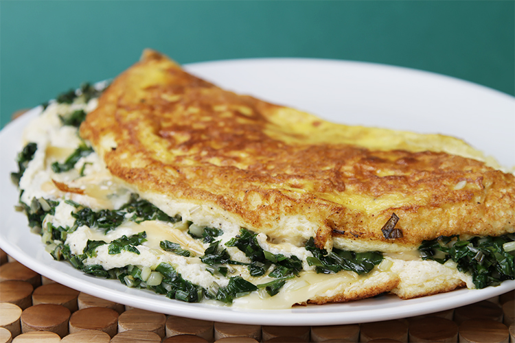 Soufflé omelette with Robiola and sautéed ramps A fluffy gourmet ...