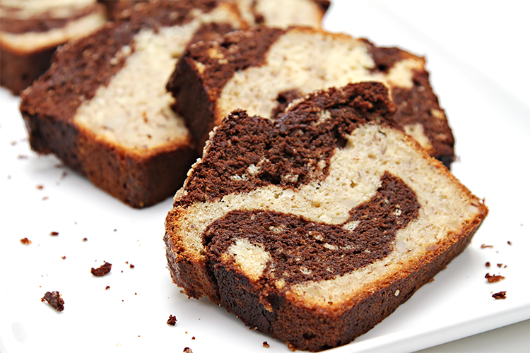 Dark Chocolate Marbled Banana Nut Bread Food Amp Style