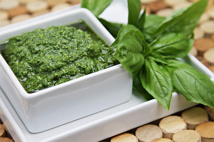 basil pesto this one stays bright green food style