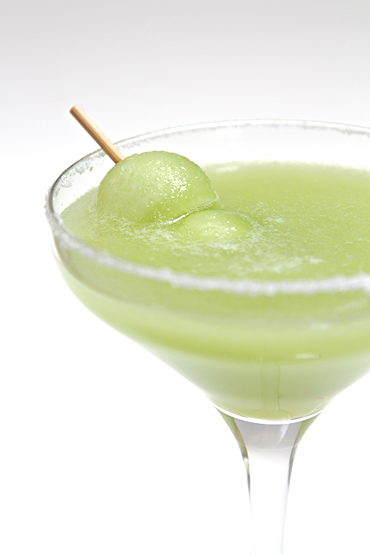 Honeydew and Mezcal margarita with chipotle syrup