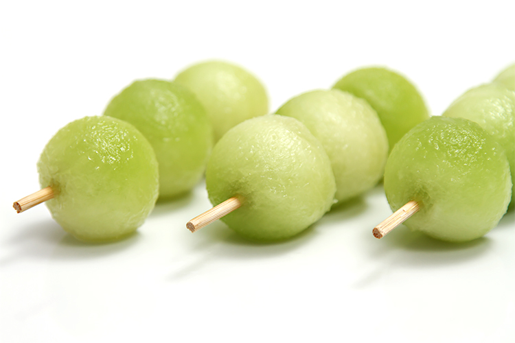 Honeydew melon skewers