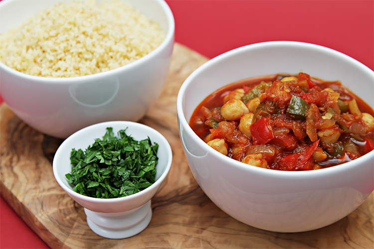 Spanish chickpea and tomato stew recipe food style spanish chickpea stew served with toasted couscous forumfinder Gallery