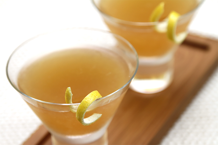 Bourbon Sidecar with lemon bitters