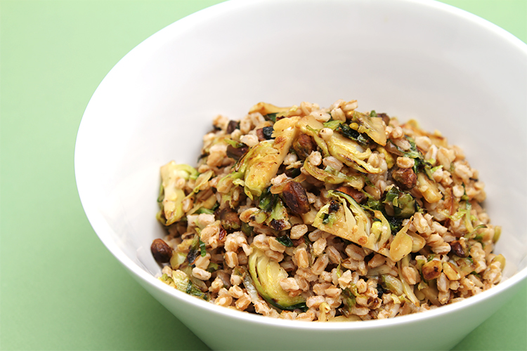 Farro With Pan Roasted Brussels Sprouts Food Style