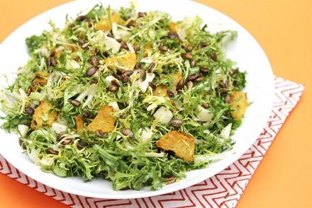 Brown butter-roasted winter squash salad with Pecorino Toscano Fresco and toasted pumpkin seeds