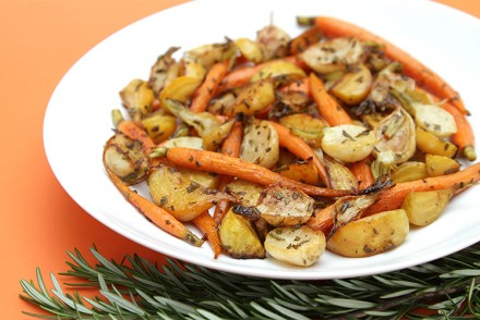Rosemary-roasted root vegetables agrodolce