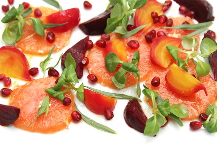 Cara Cara orange and beet salad with pomegranate