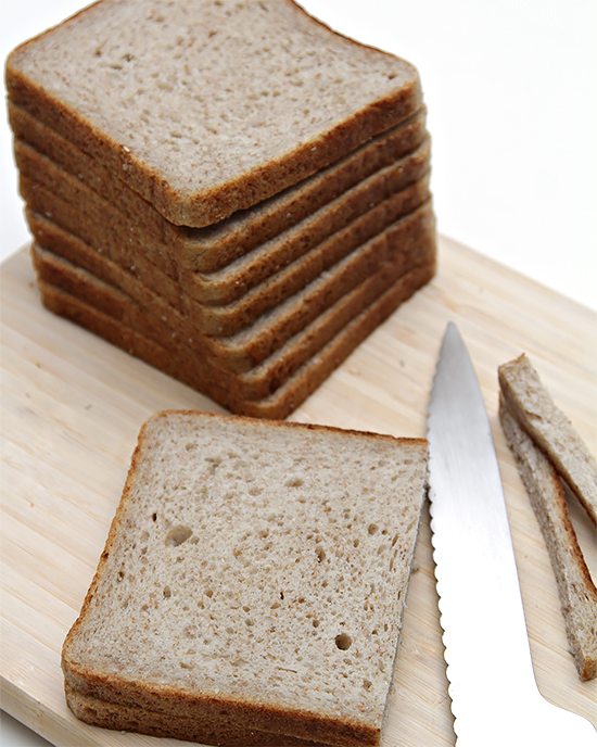 Whole-wheat Pullman bread
