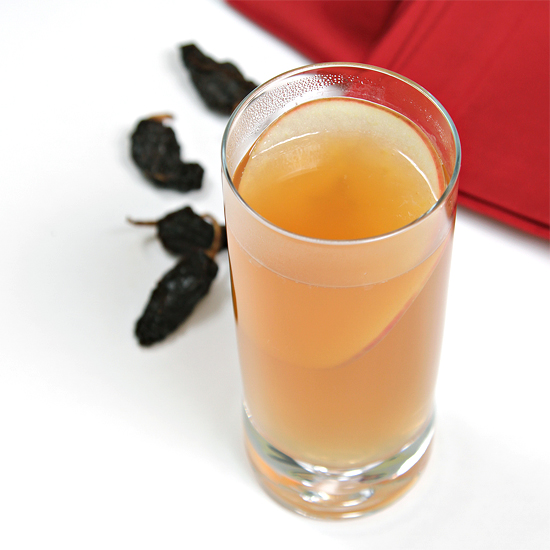 Smoky mulled cider with chipotle and Islay single malt Scotch