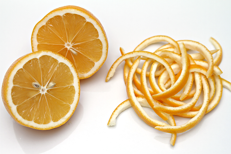 Meyer lemon peels