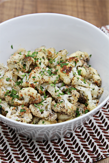 Roasted cauliflower with Za'atar and lemon