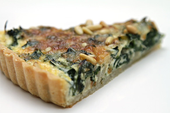 Swiss chard tart with Fontina Val d'Aosta and pine nuts